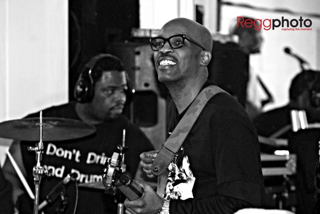 "Drummer Kenny ""Kwick"" Gross and bassist Byron ""BJ"" Jackson rocking with GODISHEUS at the A.R.T. of Go-Go Part II."