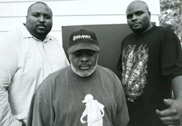 Photo by Thomas Sayers Ellis: TMOTTGoGo's Preston Blue (Bag of Beats Records), Kato Hammond, Mark Ward