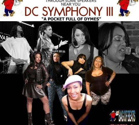 Flyer for 'DC Symphony III' provided by TMOTTGoGo.com Go-Go Divas (l to r): Karis, Kacey, Mercedes, Adia