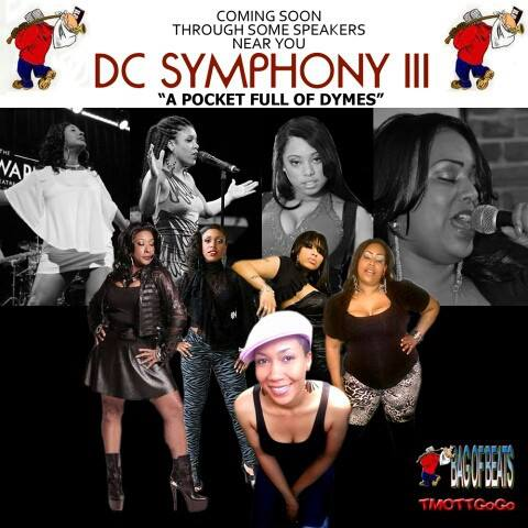 Flyer for 'DC Symphony III' provided by TMOTTGoGo.com Go-Go Divas (l to r): Karis, Kacey, Mercedes, Adia